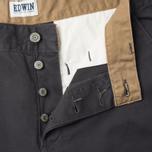 Мужские брюки Edwin ED-55 Chino Compact Twill Charcoal Rinsed фото- 2