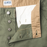 Мужские брюки Edwin ED-55 Chino Compact Twill Khaki Rinsed фото- 3