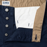 Edwin ED-55 Chino Compact Twill Men`s Trousers Navy Rinsed photo- 1