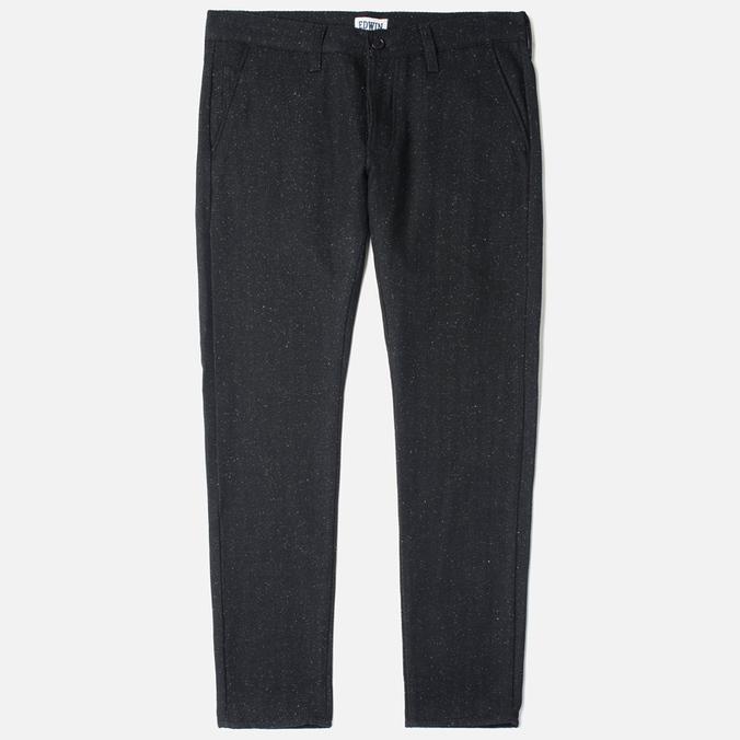 Мужские брюки Edwin ED-55 Chino Herringbone Wooly Black