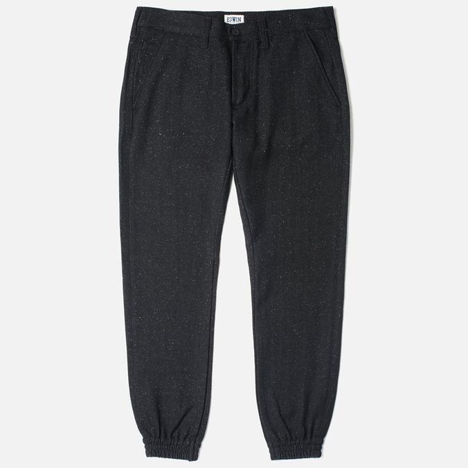 Мужские брюки Edwin ED-55 Jogger Herringbone Wooly Black