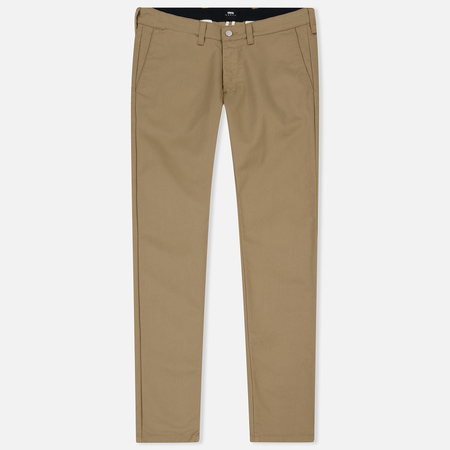 Мужские брюки Edwin ED-85 Chino CS Twill Poly Cotton 8.6 Oz Stone Beige Rinsed