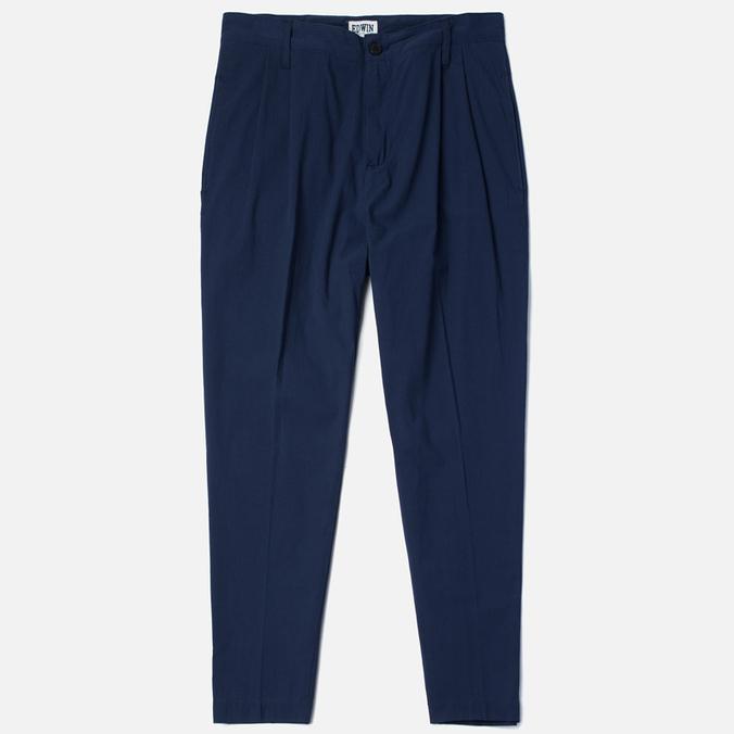 Мужские брюки Edwin Pleated French Seersucker Navy