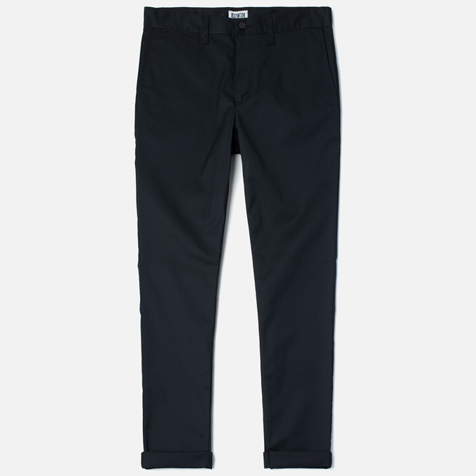 Edwin Union Chino Twill 7.25 Oz Men`s Trousers Black