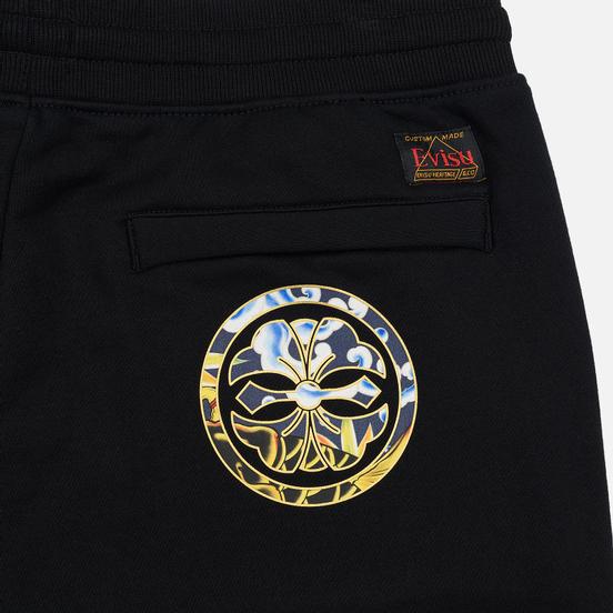 Мужские брюки Evisu All Over Pattern Logo Printed Black