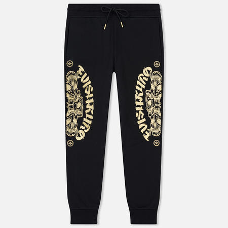 Мужские брюки Evisu Embroidered Double Hannya Black