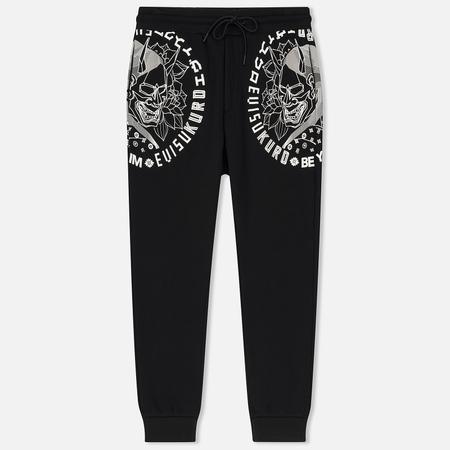 Мужские брюки Evisu Evisukuro Hannya Lotus Side Print Black