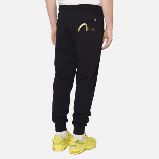 Мужские брюки Evisu Evisukuro Iridescent Kamon Badge Black