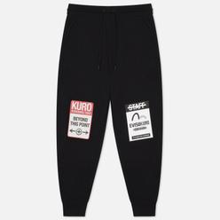 Мужские брюки Evisu Evisukuro Warning Labels Black