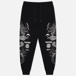 Мужские брюки Evisu Heritage Foil Printed Dragon Black