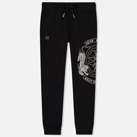 Мужские брюки Evisu Heritage Tiger Satin Patch On Embroidered Black