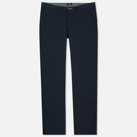 Мужские брюки Gant Basic Regular Twill Chino Marine