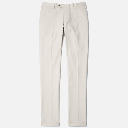 Hackett Slim Stretch Cotton Men`s Trousers Tan