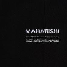 Мужские брюки maharishi Organic Military Type Embroidery Temple Bead Black фото- 4