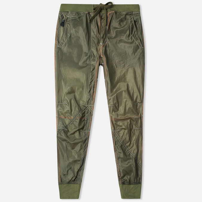 Maharishi Recycled Vintage Parachute Men's Trousers Olive