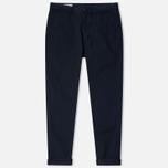 Maison Kitsune Canvas Jay Chino Men`s Trousers Dark Navy photo- 0