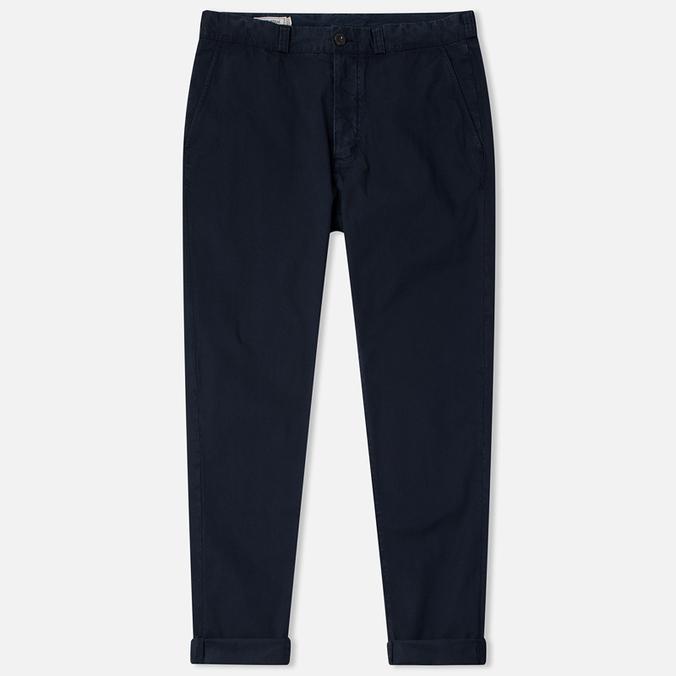 Maison Kitsune Canvas Jay Chino Men`s Trousers Dark Navy