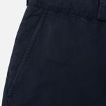 Maison Kitsune Canvas Jay Chino Men`s Trousers Dark Navy photo- 2