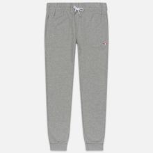 Мужские брюки Maison Kitsune Classic Jog Tricolor Fox Patch Grey Melange фото- 0