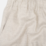 Мужские брюки Maison Kitsune Flannel Casual Beige фото- 5