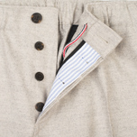 Мужские брюки Maison Kitsune Flannel Casual Beige фото- 3