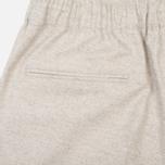 Мужские брюки Maison Kitsune Flannel Casual Beige фото- 1