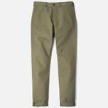 Мужские брюки Maison Kitsune Linen Jay Khaki фото- 0