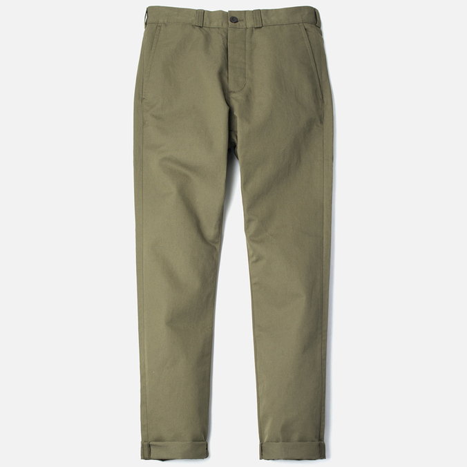 Maison Kitsune Linen Jay Men`s Trousers Khaki