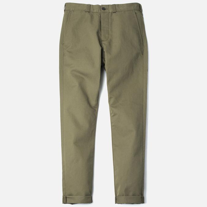 Мужские брюки Maison Kitsune Linen Jay Khaki