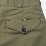 Maison Kitsune Linen Jay Men`s Trousers Khaki photo- 3