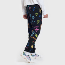 Мужские брюки Marcelo Burlon All Over Sketches Multicolor/White фото- 2