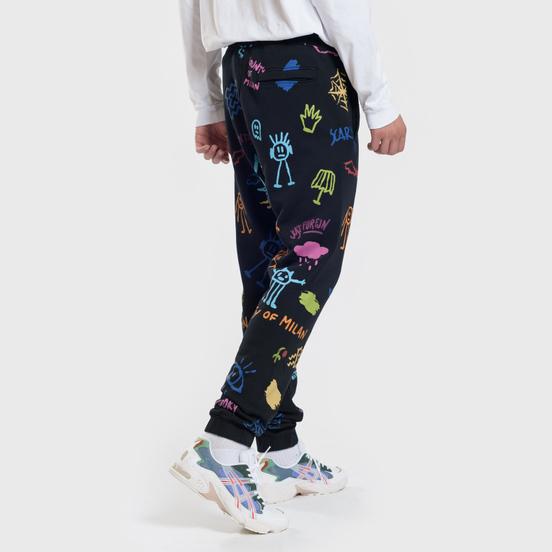 Мужские брюки Marcelo Burlon All Over Sketches Multicolor/White