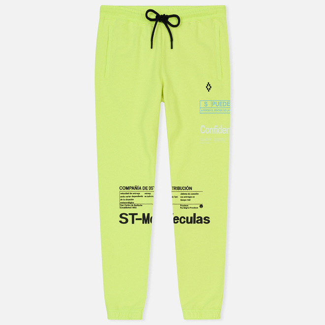 Мужские брюки Marcelo Burlon Lettering Fluo Yellow/Multicolor
