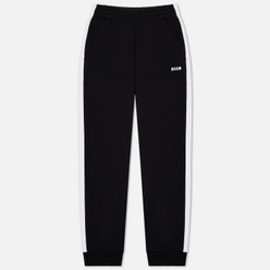 Мужские брюки MSGM Joggers Cotton Side Stripes Black