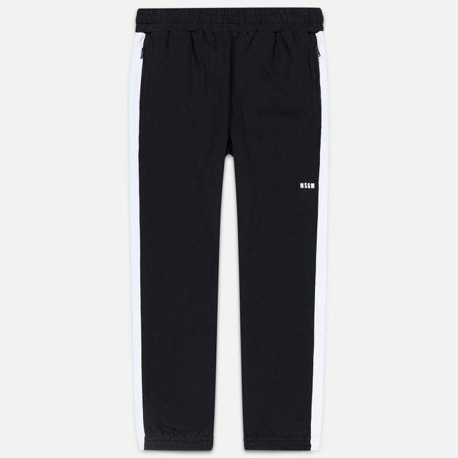 Мужские брюки MSGM Joggers Logo Printed Black