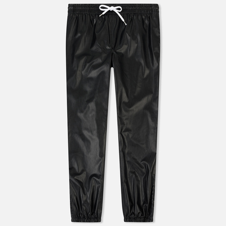 Мужские брюки MSGM Joggers Soft Artificial Leather Black