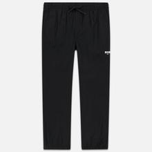 Мужские брюки MSGM Logo Printed Black фото- 0