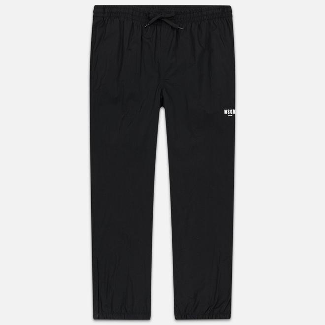 Мужские брюки MSGM Logo Printed Black