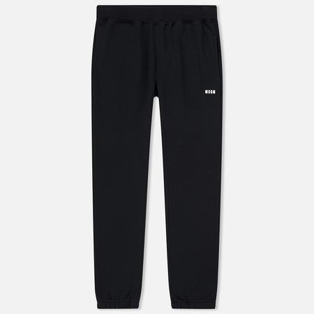 Мужские брюки MSGM Printed Logo Black