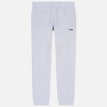 Мужские брюки MSGM Printed Logo Grey фото- 0