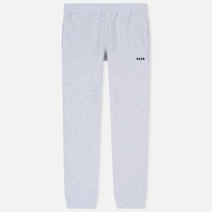 Мужские брюки MSGM Printed Logo Grey