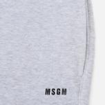 Мужские брюки MSGM Printed Logo Grey фото- 1