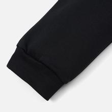 Мужские брюки MSGM Red And White Logo Print Black фото- 3
