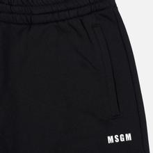 Мужские брюки MSGM Red And White Logo Print Black фото- 1