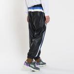 Мужские брюки MSGM With Logo Patch Black фото- 2