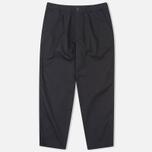 Nanamica Wide Men`s Trousers Navy/Green photo- 0
