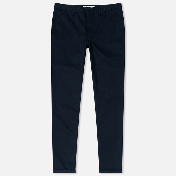 Norse Projects Aros Heavy Chino Men's Trousers Dark Navy
