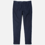 Norse Projects Aros Slim Light Twill Men`s Trousers Dark Navy photo- 0