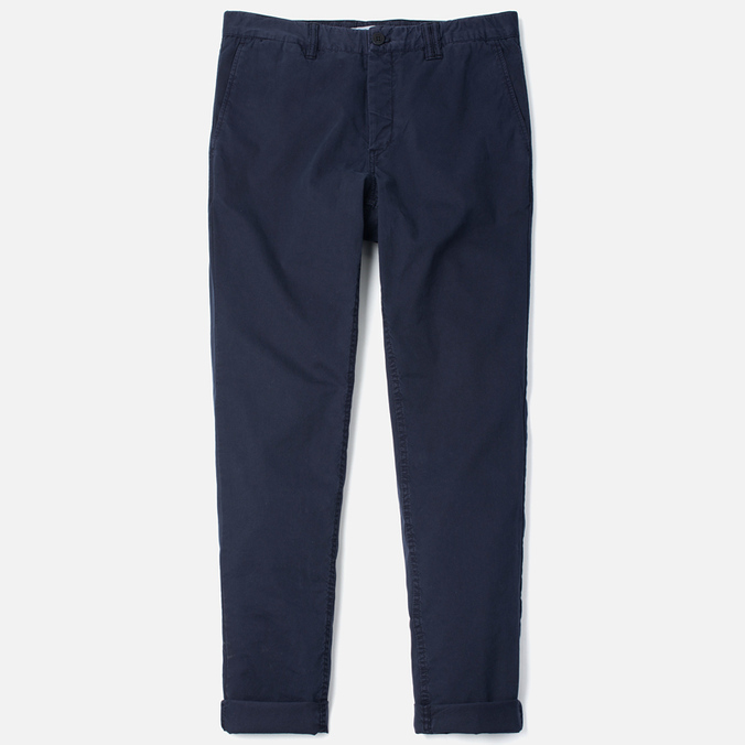 Norse Projects Aros Slim Light Twill Men`s Trousers Dark Navy