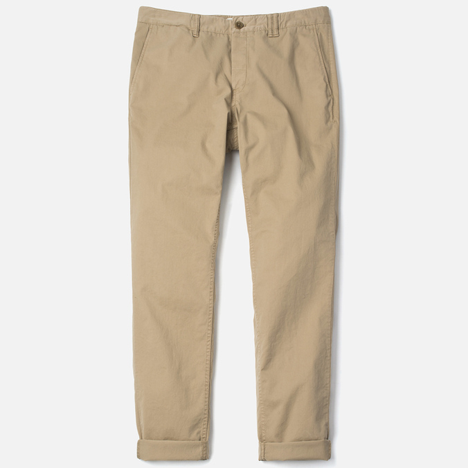 Norse Projects Aros Slim Light Twill Men`s Trousers Khaki